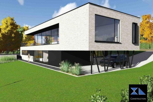 consruction maison terrain en pente
