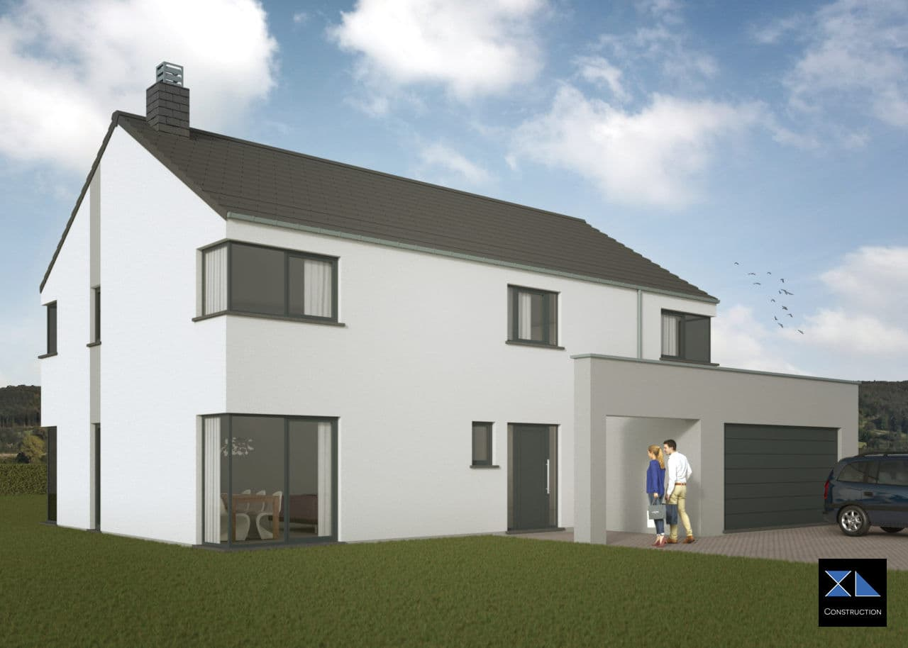Construction de maison à Liège, Namur, Charleroi, ... : Maison moderne modèle XL33