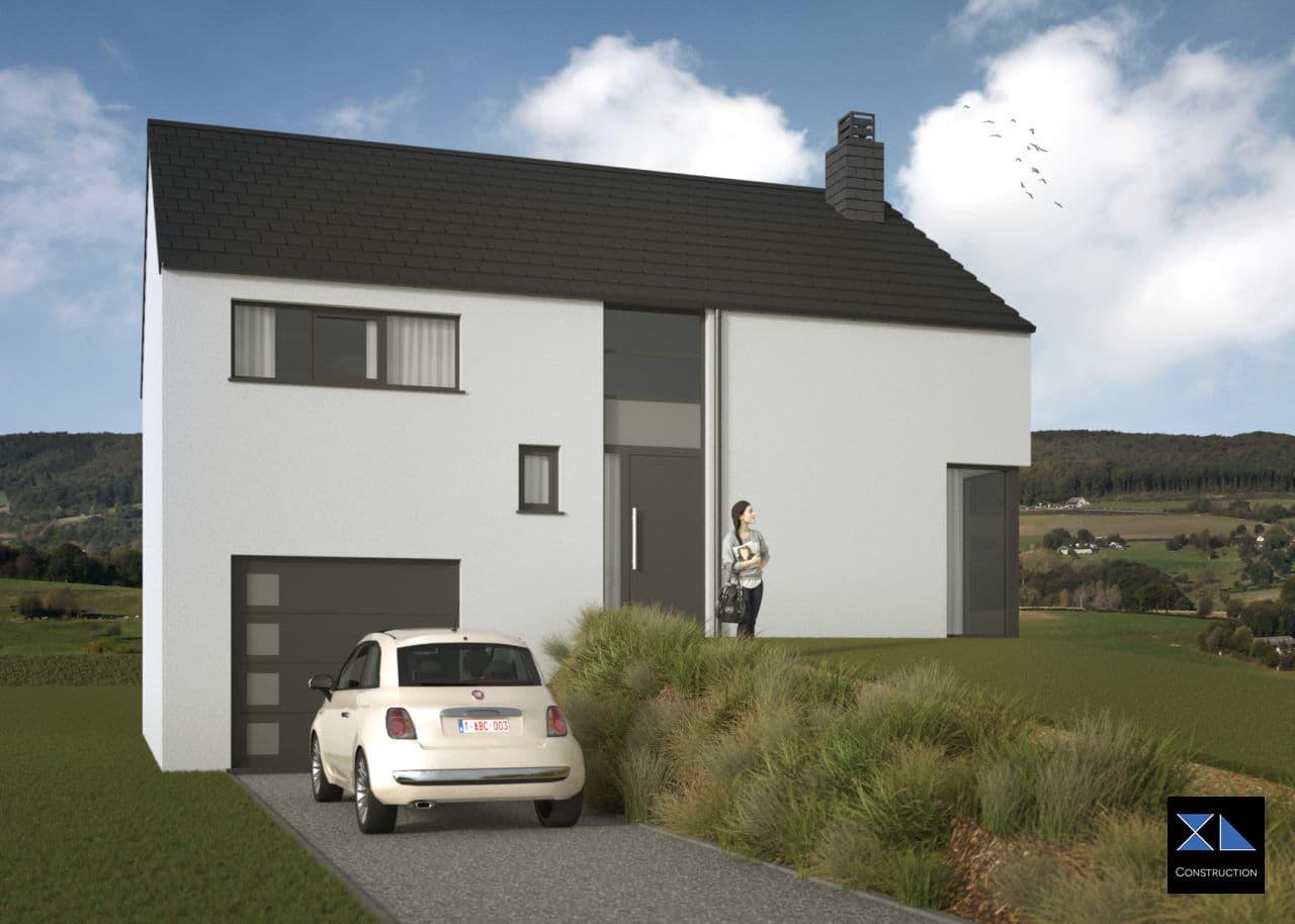 Maison clé sur porte modèle XL11 par notre entreprise générale de construction à Liège, Namur, ...