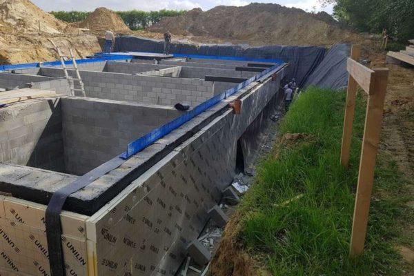 Construction de caves d'une maison par notre entreprise générale de construction