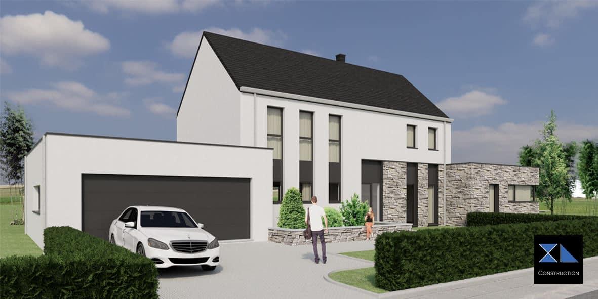 Vue façade XL47, entreprise de construction à Liège